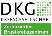 Dieses Bild zeigt das DKG-Siegel für das Brustkrebszentrum der Hochtaunus-Kliniken.