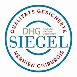 Dieses Bild zeigt das Qualitäts-Siegel der Deutschen Hernien Gesellschaft für das Hernienzentrum der Hochtaunus-Kliniken.