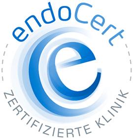 Dieses Bild zeigt das Zertifikats-Siegel von endoCert.