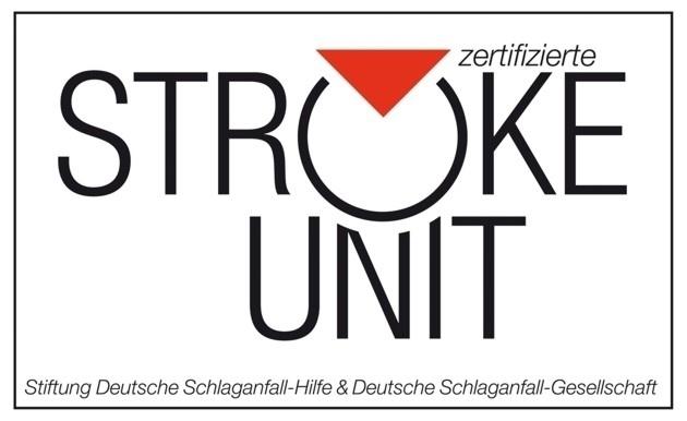 Dieses Bild zeigt das Zertifikat der Stroke Unit von der Stiftung Deutsche Schlaganfall-Hilfe und Deutsche Schlaganfall-Gesellschaft.