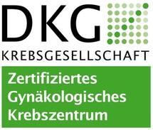 Dieses Bild zeigt das DKG-Siegel für das Gynäkologische Krebszentrum der Hochtaunus-Kliniken.