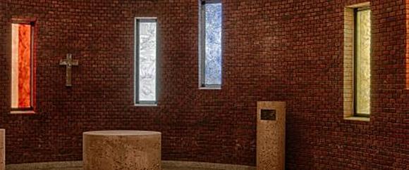 Dieses Bild zeigt den Raum für den Gottesdienst der Seelsorge Bad Homburg.