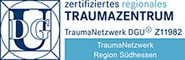 Dieses Bild zeigt das Zertifikats-Siegel des TraumaNetzwerks DGU.