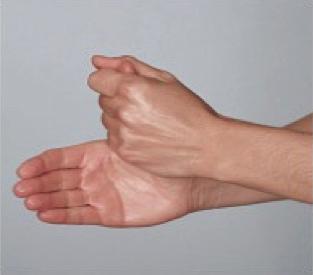 Dieses Bild zeigt Schritt 1 des Händewaschens. Waschen der Daumen.