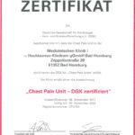 Dieses Bild zeigt das Zertifikat der Chest Pain Unit